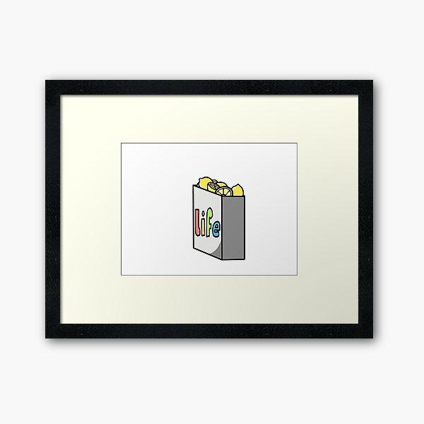 well, when life gives you lemons! Framed Art Print