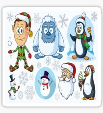 Xmas and Winter Characters Sticker