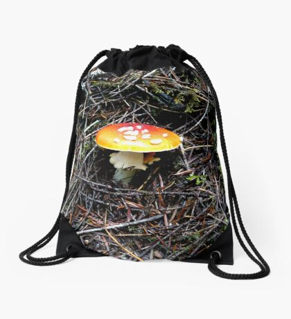 Mushroom (Available in iphone, ipod & ipad cases) Drawstring Bag