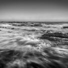 Wave after Wave-Black and White by Ralph Goldsmith