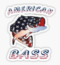 American Bass Sticker
