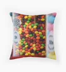 Candy color Throw Pillow