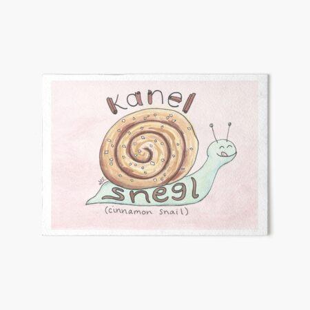 Kanel Snegl | Cinnamon Snail Art Board Print