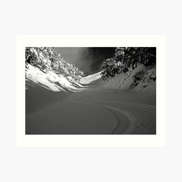 First Tracks Art Print