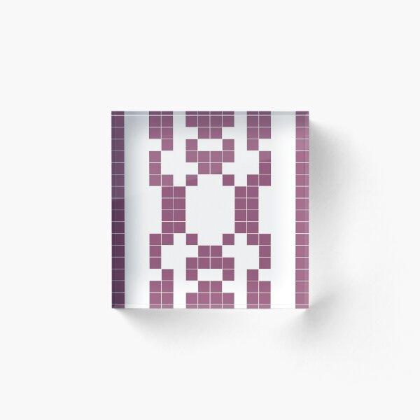 Mindfulness - binary patterns Acrylic Block