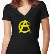 Anarcho-Capitalism Women's Fitted V-Neck T-Shirt