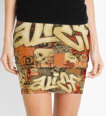 Alief Boss Print Mini Skirt