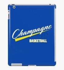 Champagne Basket 1 Blue iPad Case/Skin