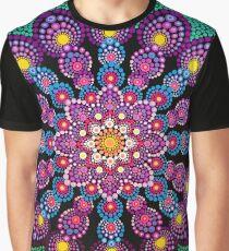 Purple & Green Dot Mandala - Art&Deco By Natasha Graphic T-Shirt