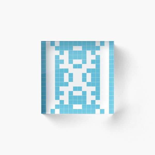 Patience - binary patterns Acrylic Block
