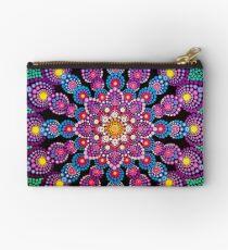 Purple & Green Dot Mandala - Art&Deco By Natasha Studio Pouch