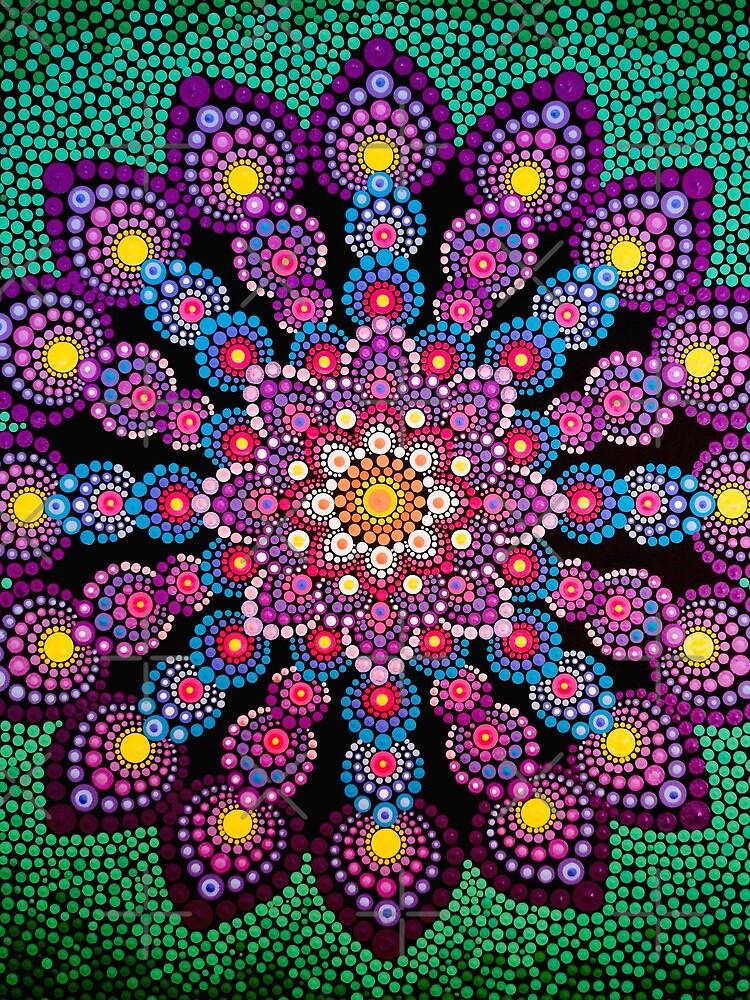 Purple & Green Dot Mandala - Art&Deco By Natasha by ArtDecoNatasha