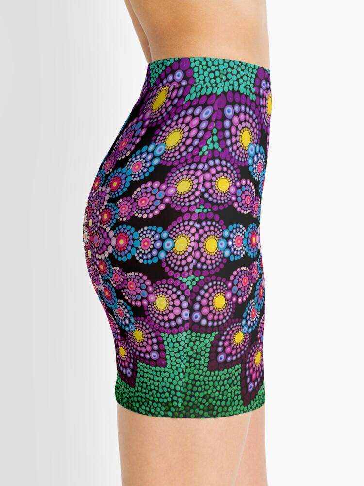 Alternate view of Purple & Green Dot Mandala - Art&Deco By Natasha Mini Skirt