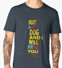 Don't hurt dogs. Men's Premium T-Shirt