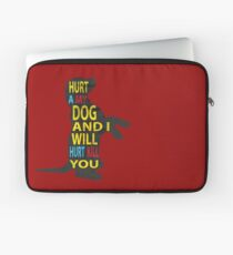 Don't hurt dogs. Laptop Sleeve