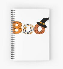 Halloween Boo Fledermaus Spinne Spiralblock
