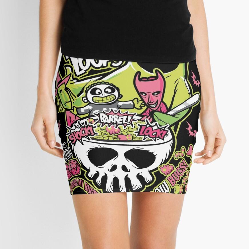 Oogie Boogie Loops Mini Skirt