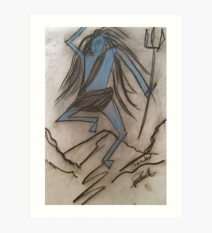 The dance of Rage -  Shiva's Tandava.. Art Print