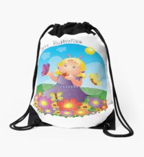 Butterfly Girl Drawstring Bag