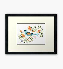 Bird on a Vine Framed Print