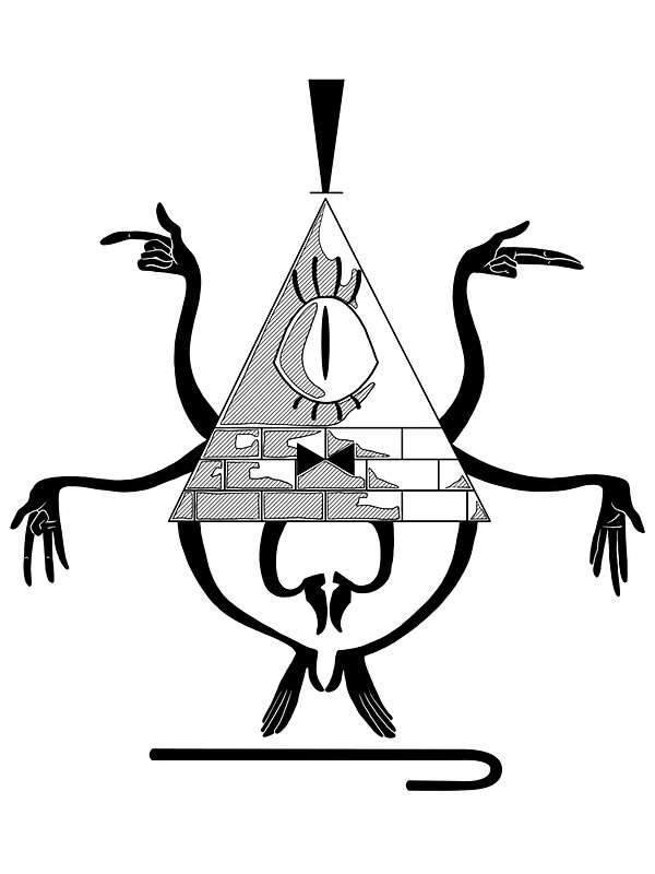 """Bill cipher coloring pages ~ """"Space Triangle Bill Cipher"""" Stickers by DeadHeadDarling ..."""