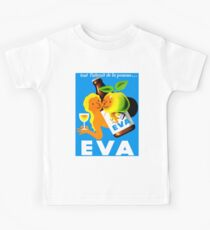 EVA ; Vintage Apple Juice Advertising Print  Kids Tee