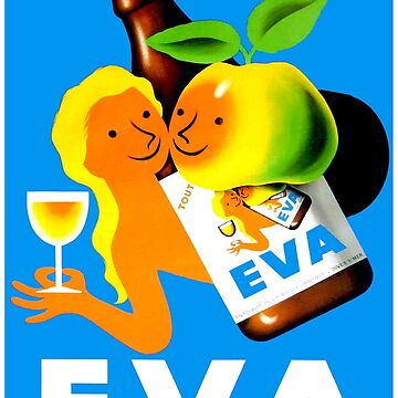 EVA ; Vintage Apple Juice Advertising Print  by posterbobs