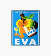 EVA ; Vintage Apple Juice Advertising Print  Art Board
