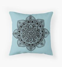 Black Mural Mandala - Art&Deco By Natasha Throw Pillow