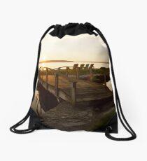 Sunny Bridge Drawstring Bag