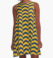 West Virginia - Chevron A-Line Dress