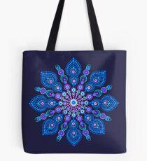 Light Blue Snow Flake Mandala - Art&Deco By Natasha Tote Bag