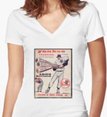 Yankees Yearbook- Vintage Women's Fitted V-Neck T-Shirt