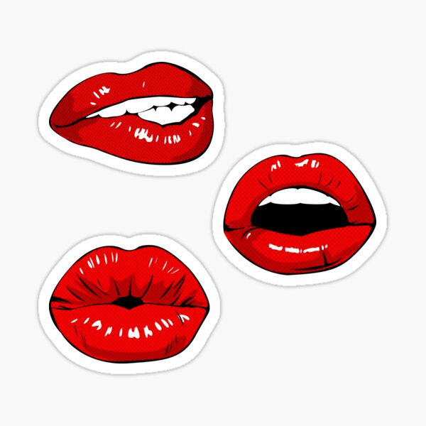 Lips stickers 3 pack sticker pack Sticker