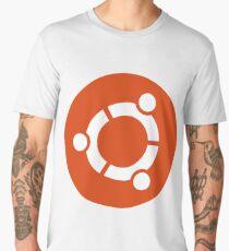 Ubuntu logo orange / white Men's Premium T-Shirt