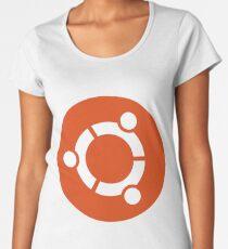 Ubuntu logo orange / white Women's Premium T-Shirt