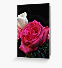 Soft Silky Roses Greeting Card