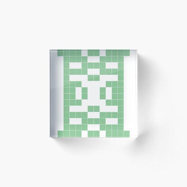 Balance  - binary patterns Acrylic Block