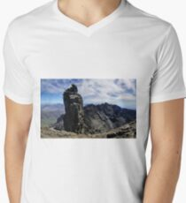 Climbers on Sgurr Dearg (the  Inaccessible Pinnacle) V-Neck T-Shirt
