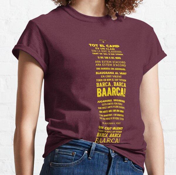 FC Barcelona Football Chant Lyrics Classic T-Shirt