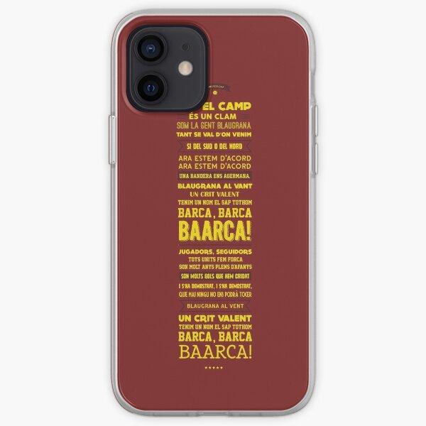 FC Barcelona Football Chant Lyrics iPhone Soft Case