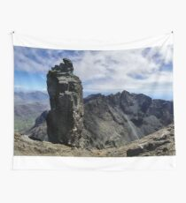 Climbers on Sgurr Dearg (the  Inaccessible Pinnacle) Wall Tapestry