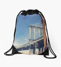 Manhattan Bridge and DUMBO Drawstring Bag
