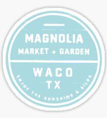 Magnolien-Markt Blau Sticker