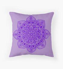 Blue Mural Mandala - Art&Deco By Natasha Throw Pillow