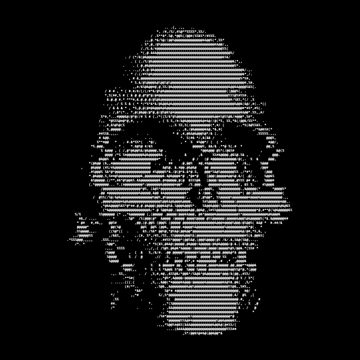 ASCII Skull by yulia-rb