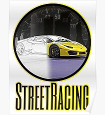 "Streetracing Concept - Yellow by ""Sykeazt"" Poster"