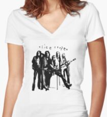 ALICE COOPER SUPER COOL VINTAGE STYLE T SHIRT Women's Fitted V-Neck T-Shirt