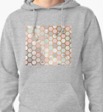 Luxurious Marbled Golden Honeycomb Pattern Pullover Hoodie