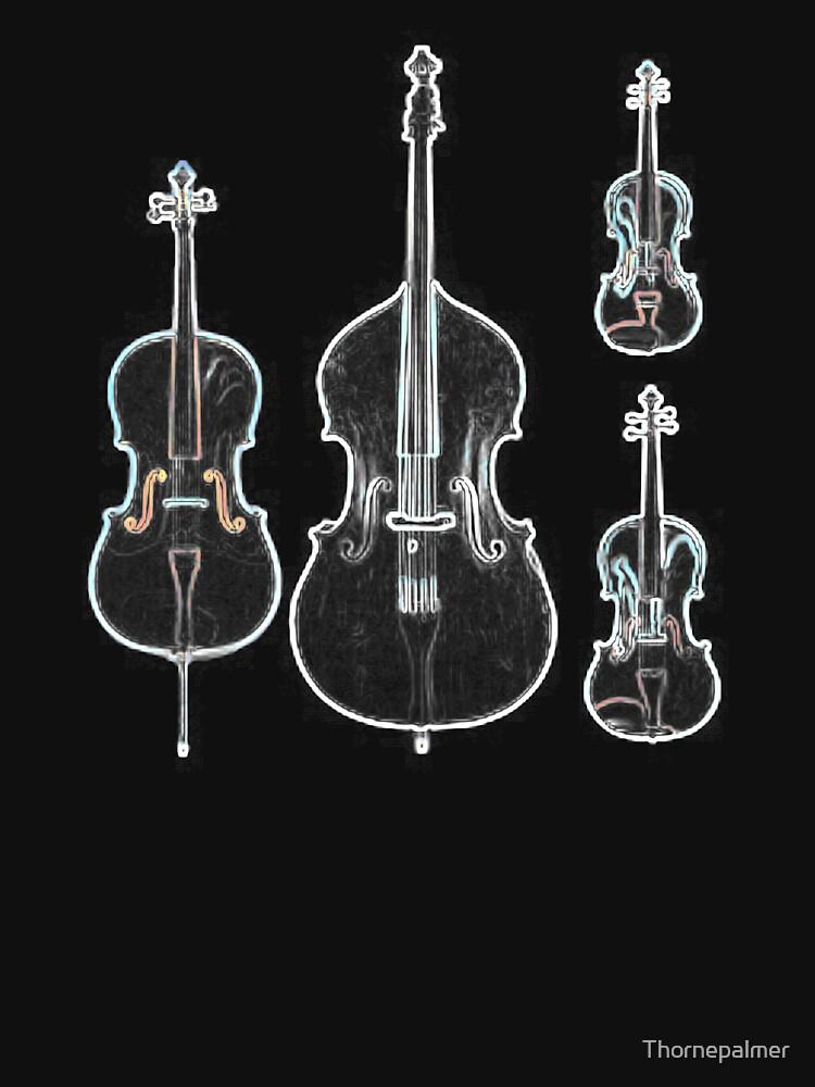 The Four Strings - Violin, Viola, Cello, Bass  by Thornepalmer